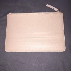 Chic Gigi New York taupe leather clutch